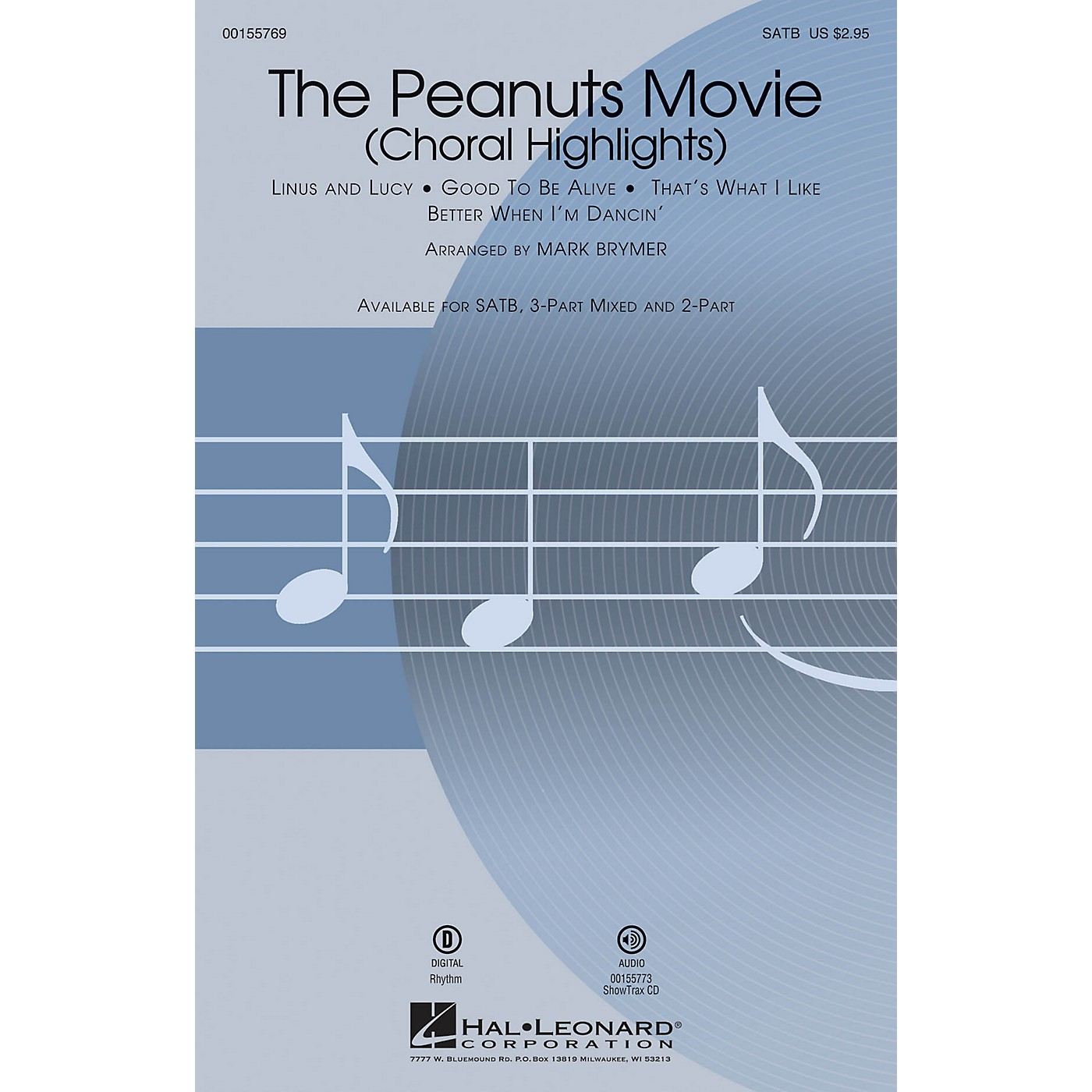 Hal Leonard The Peanuts Movie (Choral Highlights) SATB arranged by Mark Brymer thumbnail