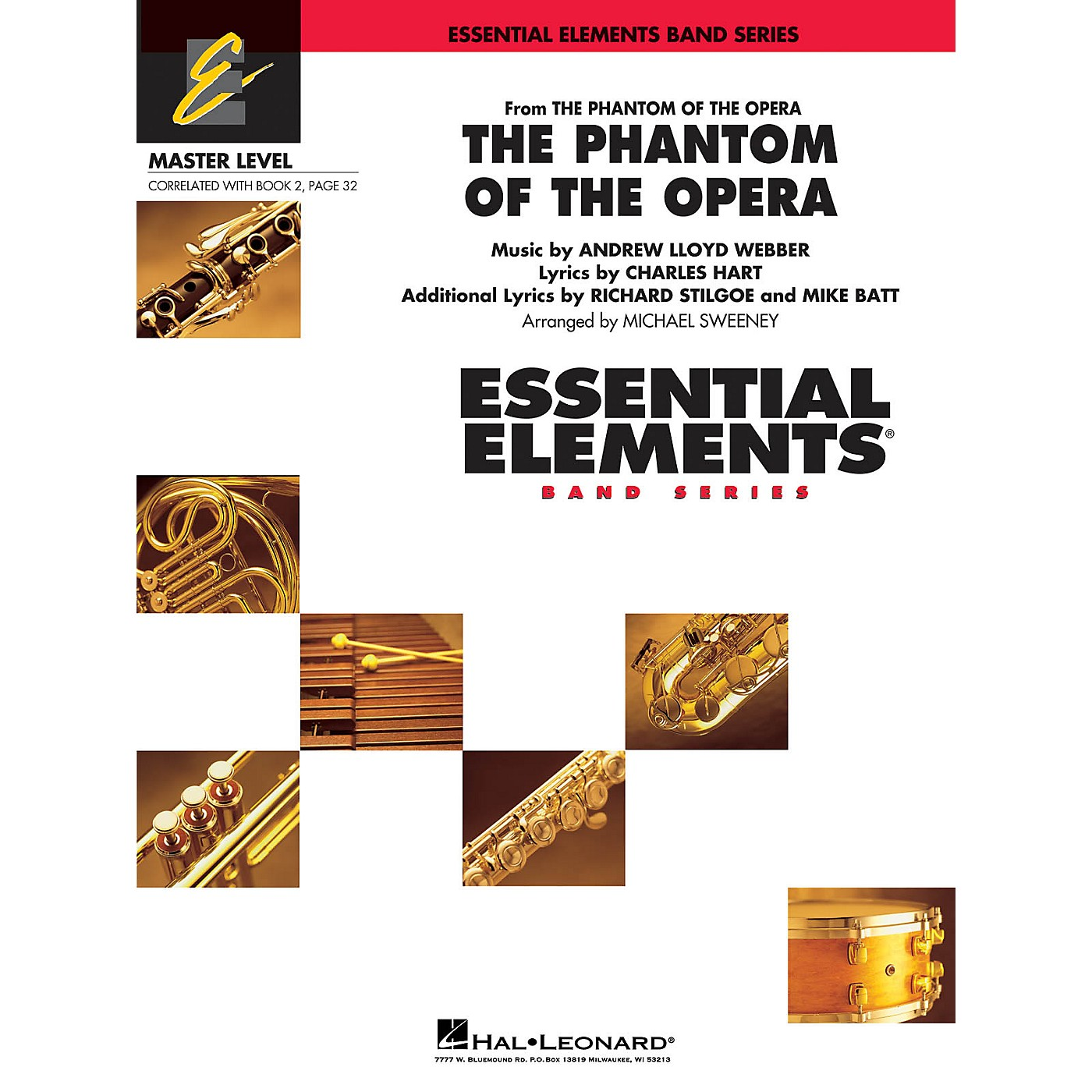 Hal Leonard The Phantom of the Opera (Main Theme) Concert Band Level 2 Arranged by Michael Sweeney thumbnail