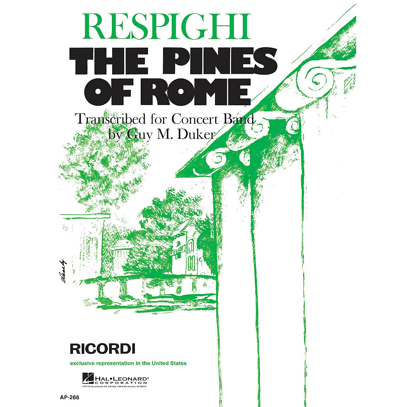 Ricordi The Pines of Rome (Full Score & Parts) Concert Band Composed by Ottorino Respighi thumbnail