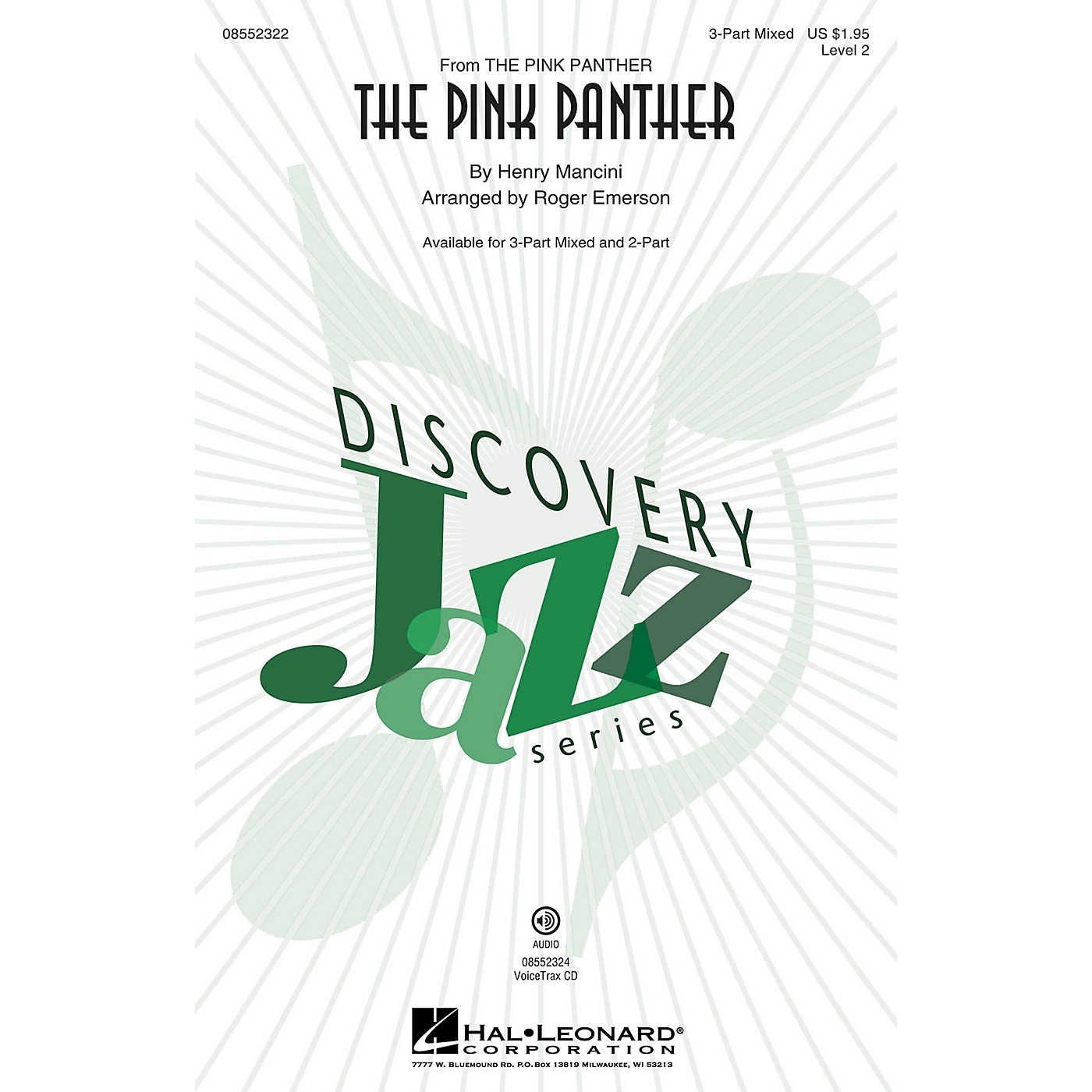 Hal Leonard The Pink Panther (Discovery Level 2) 2-Part Arranged by Roger Emerson thumbnail