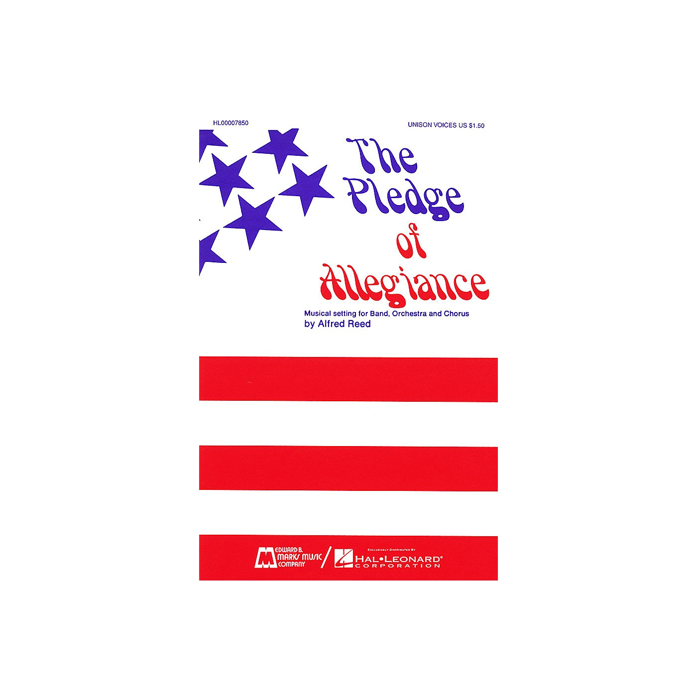 Edward B. Marks Music Company The Pledge of Allegiance SATB composed by Francis Bellamy thumbnail