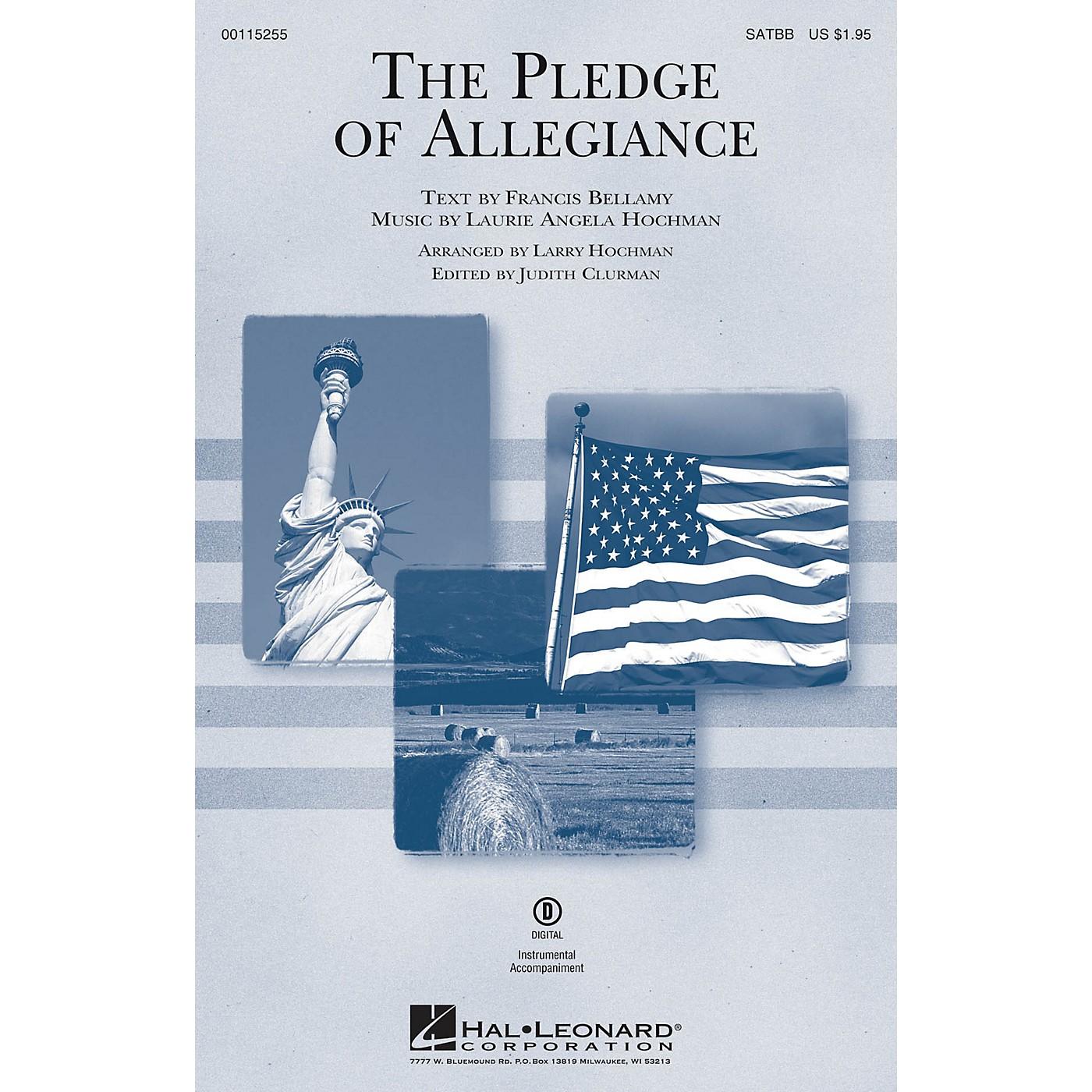 Edward B. Marks Music Company The Pledge of Allegiance SATBB arranged by Larry Hochman thumbnail