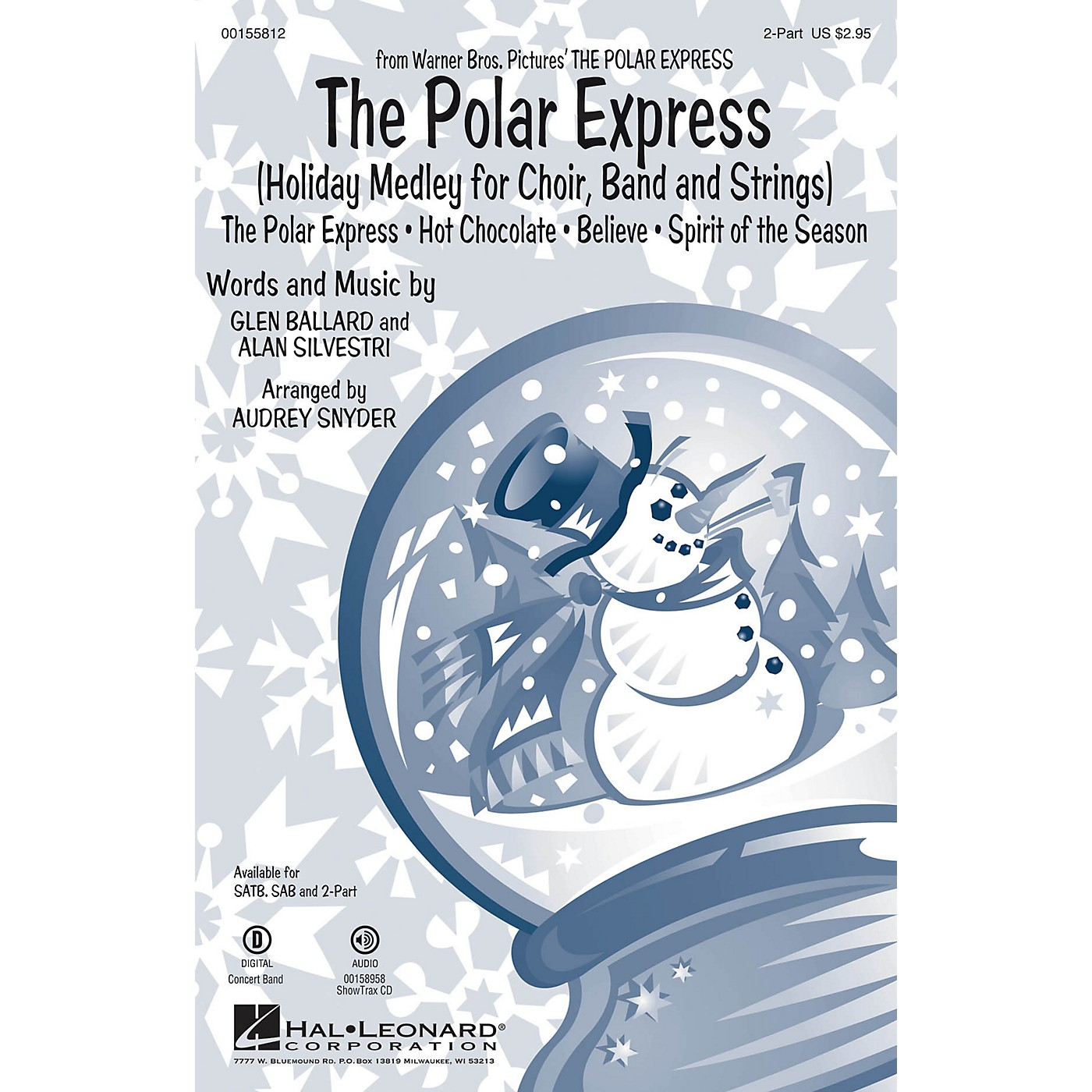 Hal Leonard The Polar Express (Holiday Medley for Choir, Band and Strings) 2-Part arranged by Audrey Snyder thumbnail