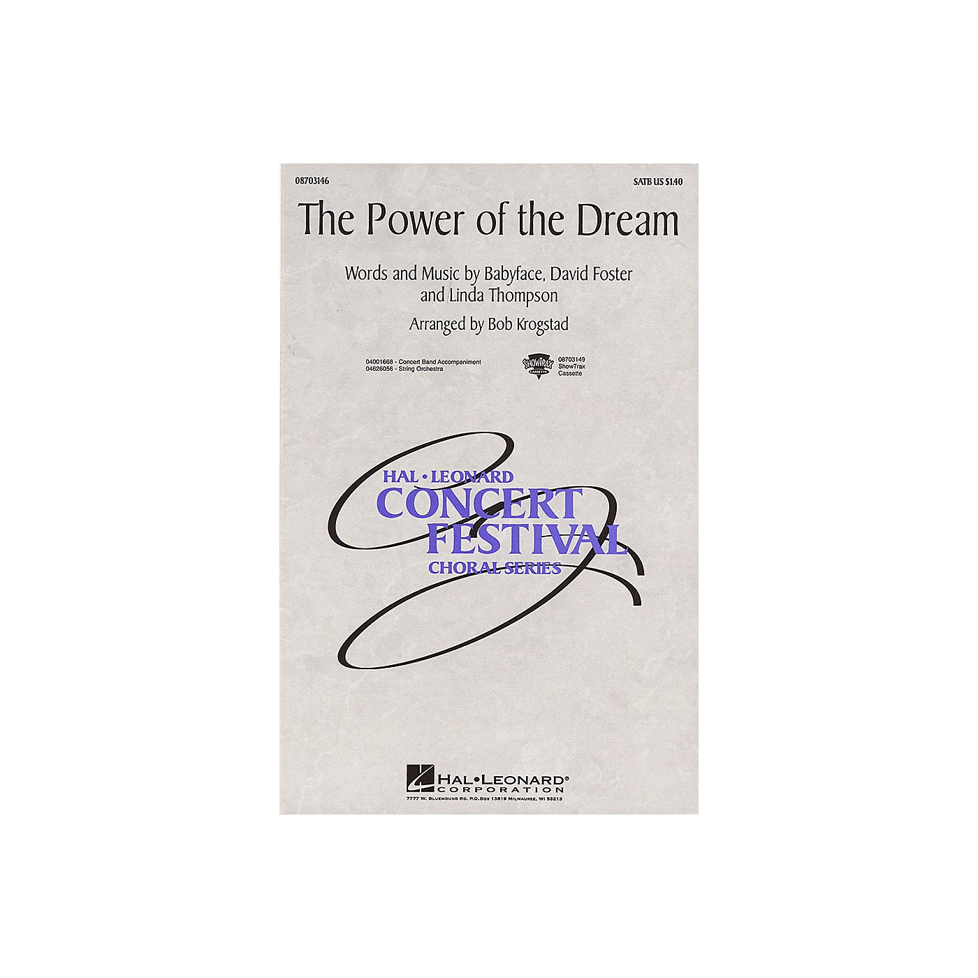 Hal Leonard The Power of the Dream 2-Part Arranged by Bob Krogstad thumbnail