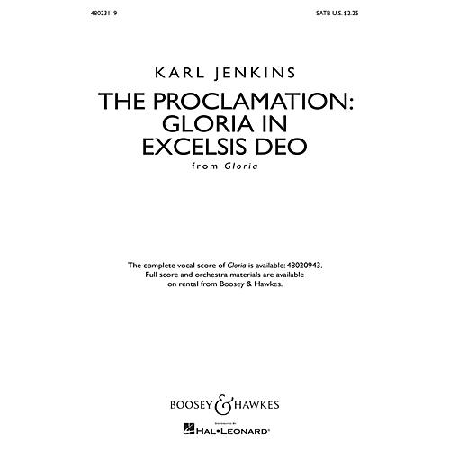 Boosey and Hawkes The Proclamation: Gloria in Excelsis Deo from Gloria SATB composed by Karl Jenkins thumbnail