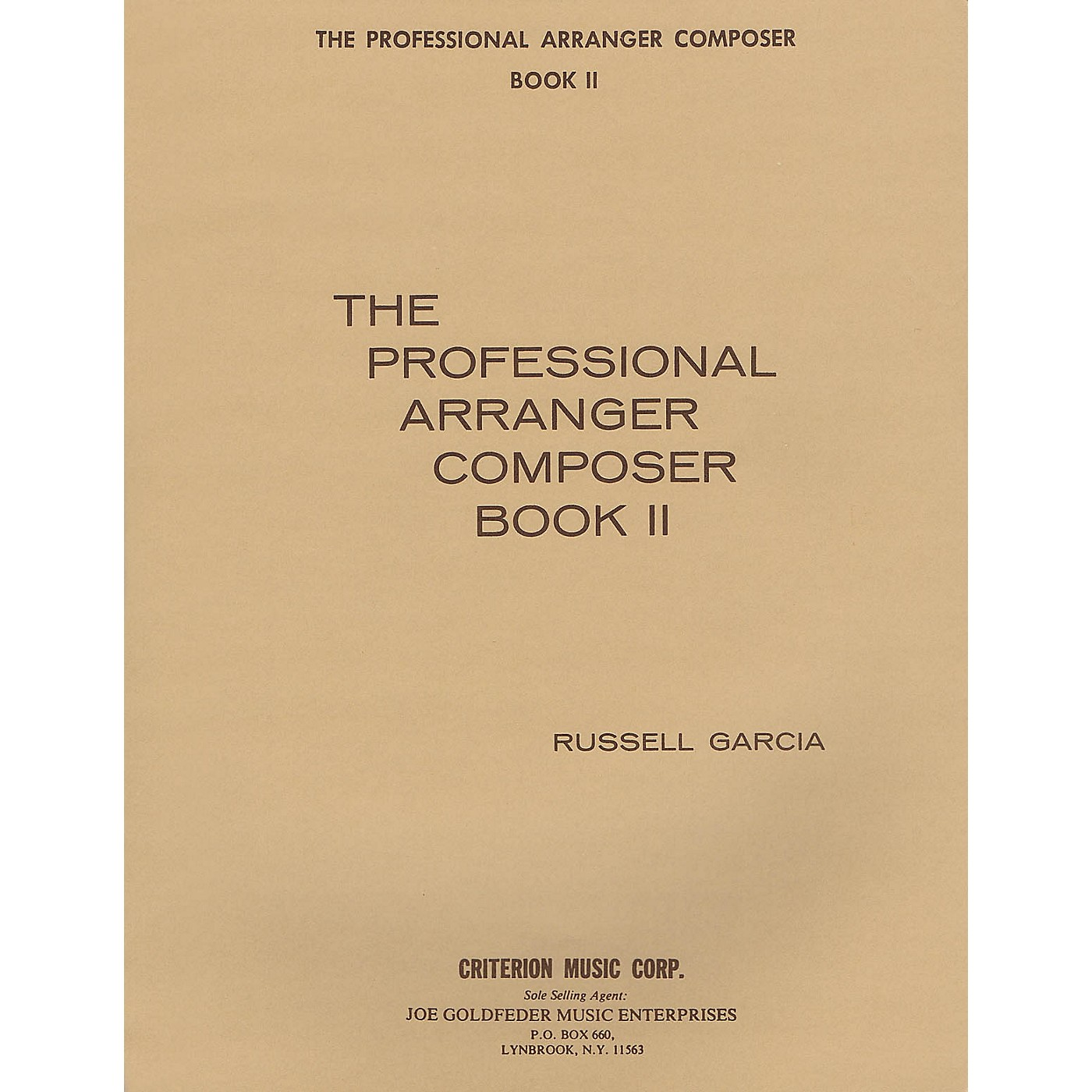 Criterion The Professional Arranger Composer - Book 2 Criterion Series Softcover with CD Written by Russell Garcia thumbnail