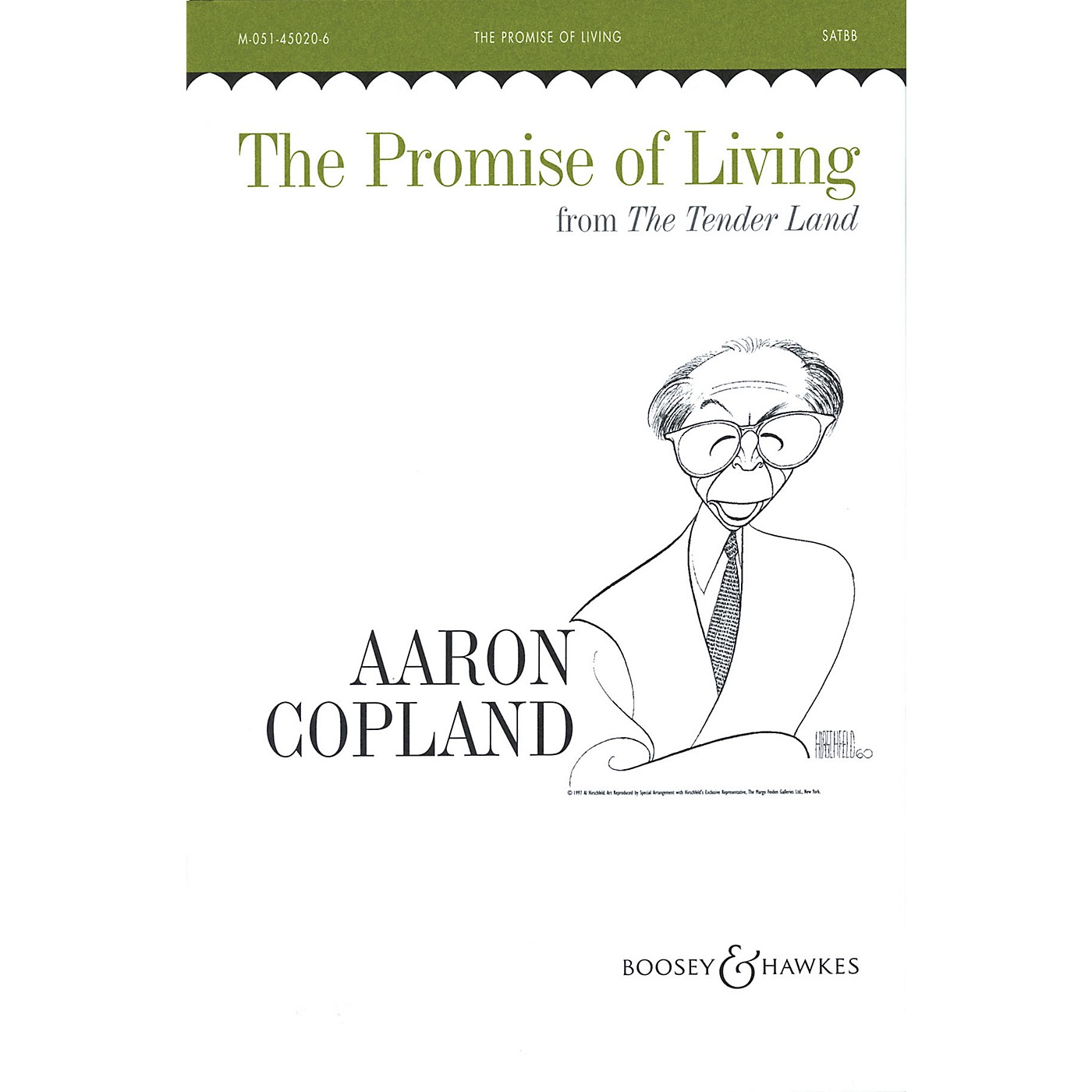 Boosey and Hawkes The Promise of Living (SATBB and Piano, 4 Hands) SATBB composed by Aaron Copland thumbnail