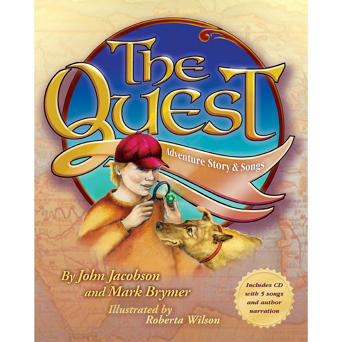 Hal Leonard The Quest (Adventure Story and Songs) Book and CD pak Composed by John Jacobson thumbnail