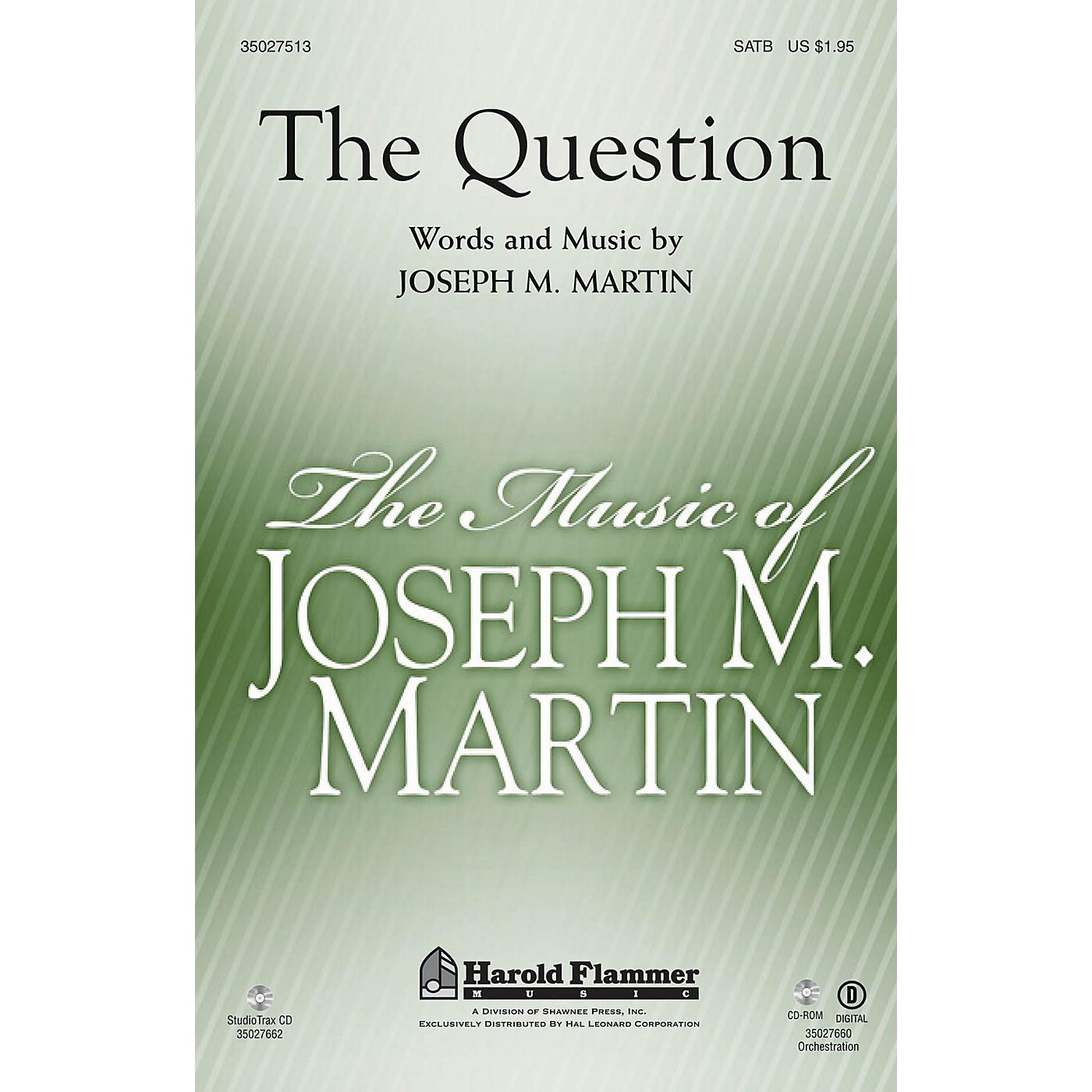 Shawnee Press The Question Studiotrax CD Composed by Joseph M. Martin thumbnail