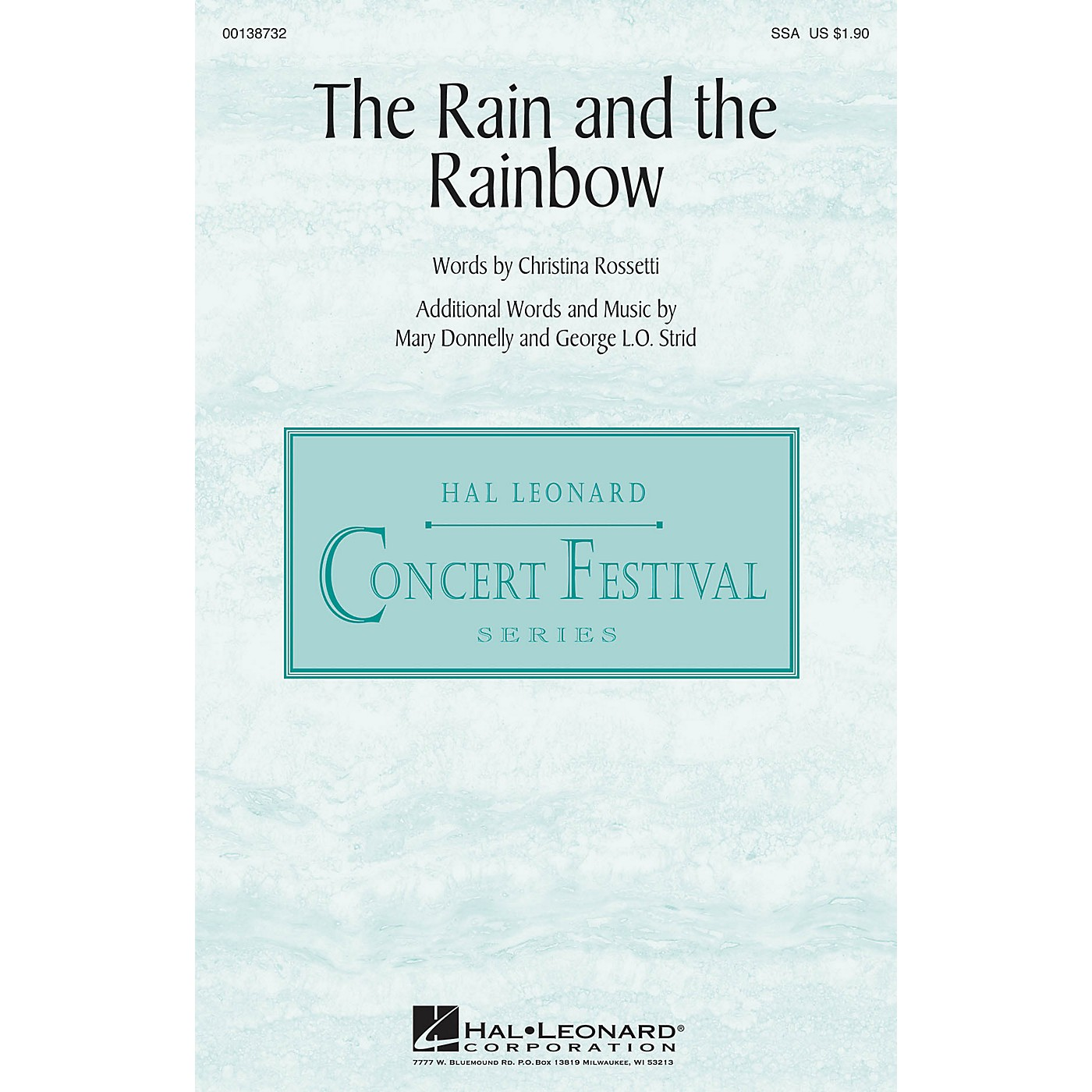 Hal Leonard The Rain and the Rainbow SSA composed by Mary Donnelly thumbnail