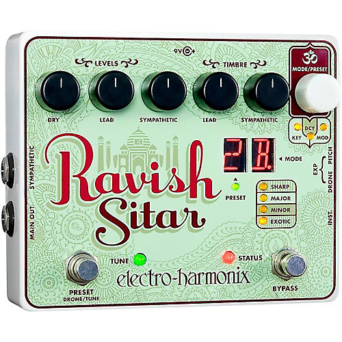 Electro-Harmonix The Ravish Sitar Synthesizer Guitar Effects Pedal-thumbnail