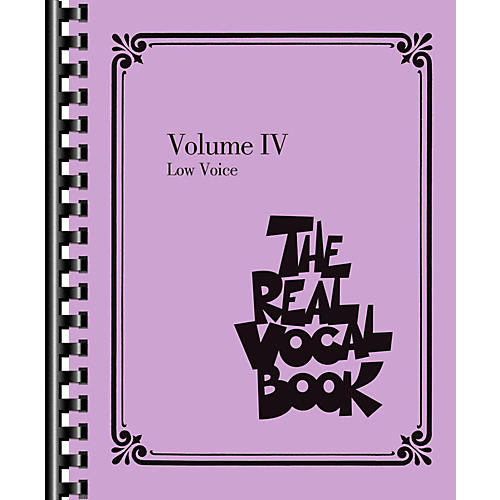 Hal Leonard The Real Vocal Book Volume 4 - Low Voice thumbnail