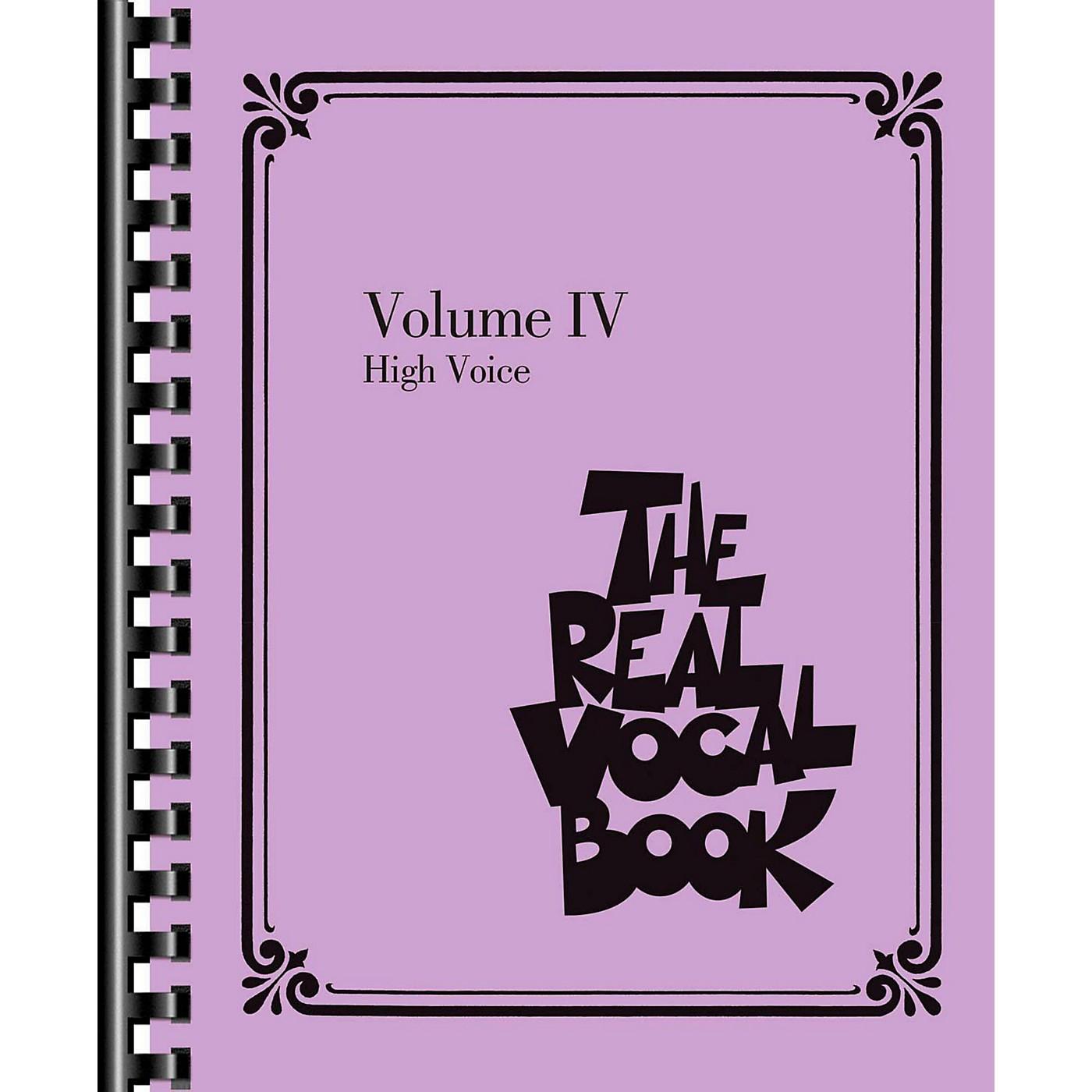 Hal Leonard The Real Vocal Book Volume 4 (IV) - High Voice Fake Book thumbnail