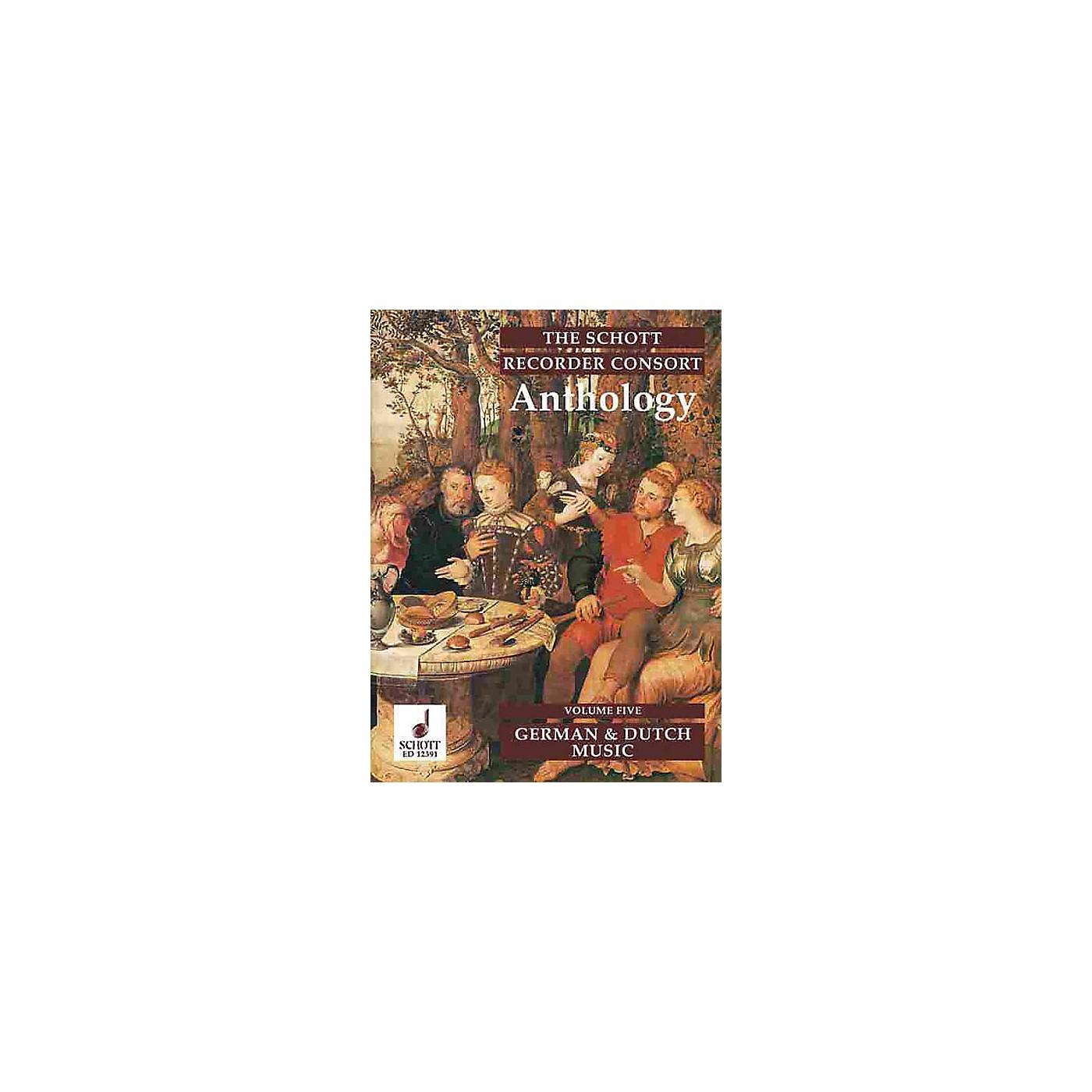Schott The Recorder Anthology - Volume 5 Schott Series by Various Arranged by Bernard Thomas thumbnail