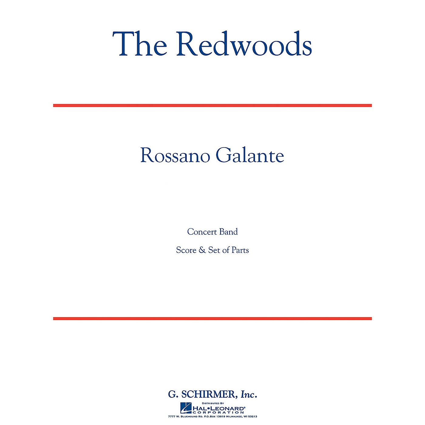 G. Schirmer The Redwoods Concert Band Level 4 Composed by Rossano Galante thumbnail