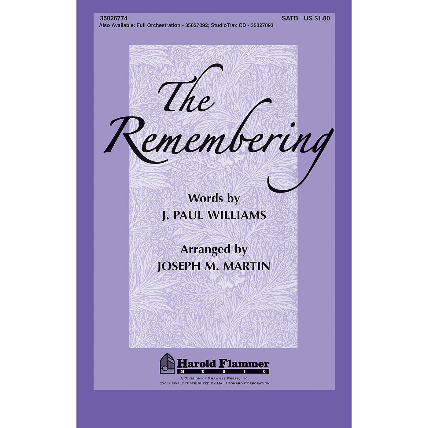 Shawnee Press The Remembering Orchestra Arranged by Joseph Martin thumbnail