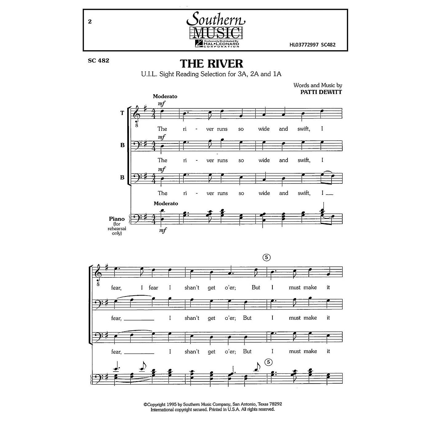 Hal Leonard The River (Choral Music/Octavo Secular Tbb) TBB Composed by Dewitt, Patti thumbnail