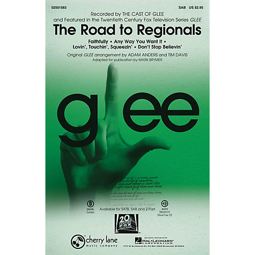 Cherry Lane The Road to Regionals (Choral Medley) (featured on Glee) SAB by Glee Cast arranged by Adam Anders thumbnail