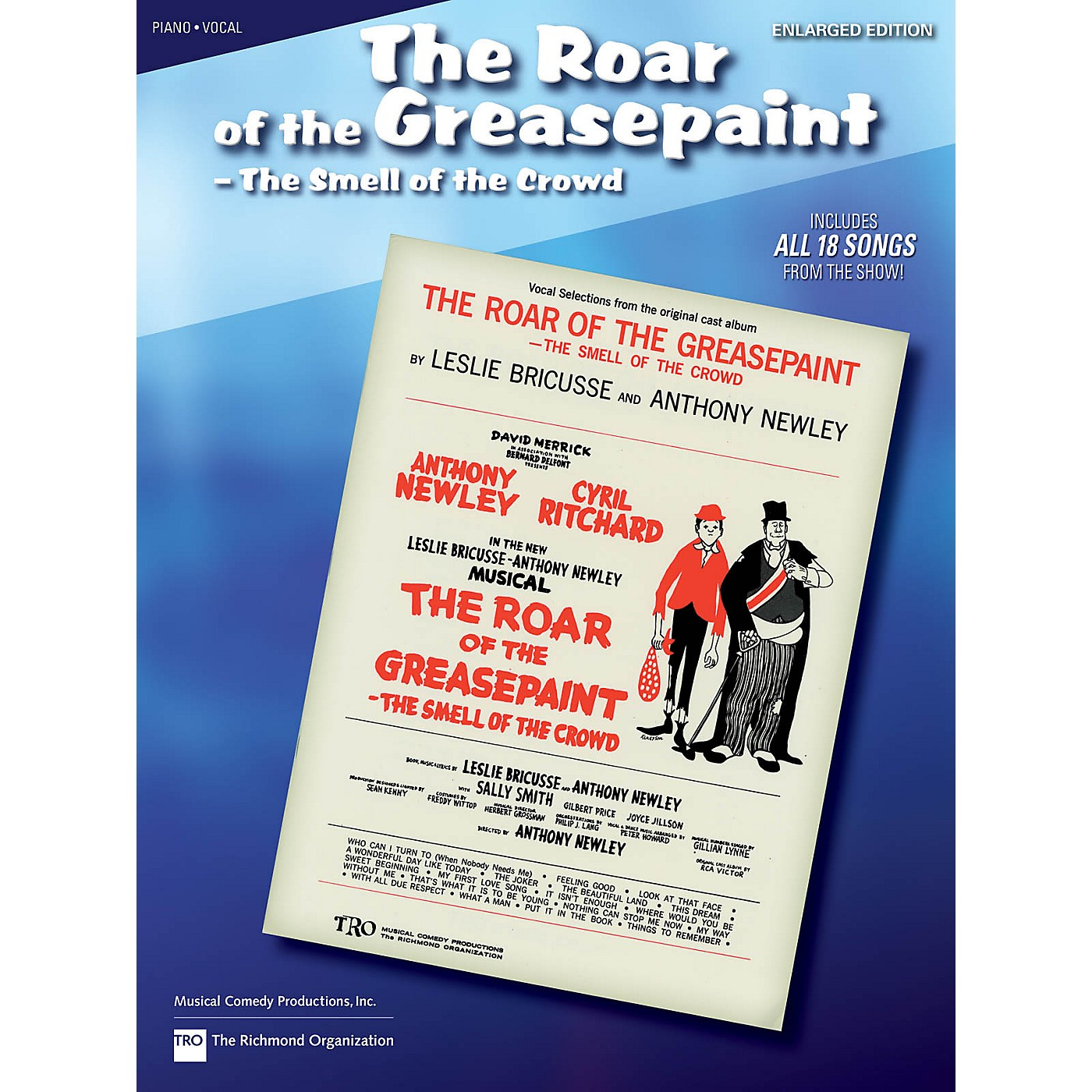 Hal Leonard The Roar of the Greasepaint, the Smell of the Crowd Richmond Music ¯ Folios Series thumbnail