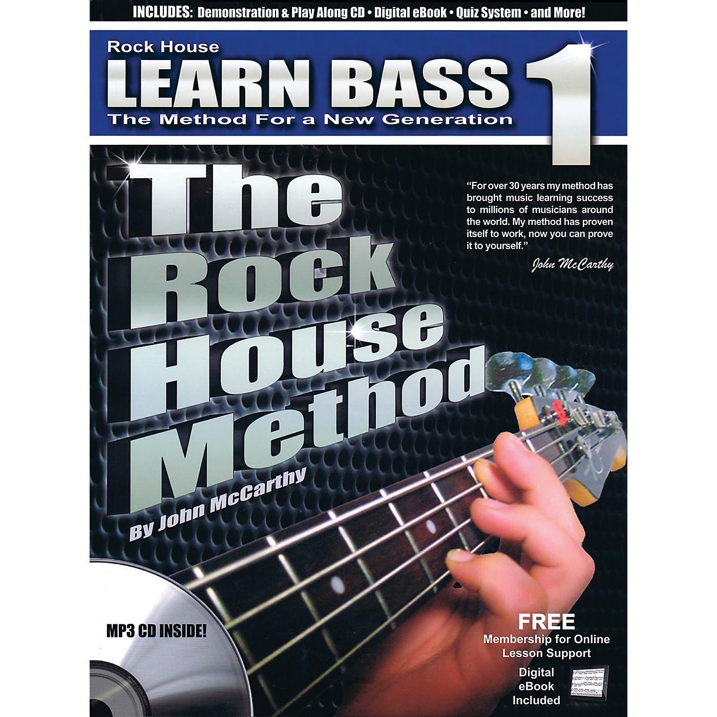 Rock House The Rock House Method - Learn Bass Guitar Book 1 (Book/CD) thumbnail