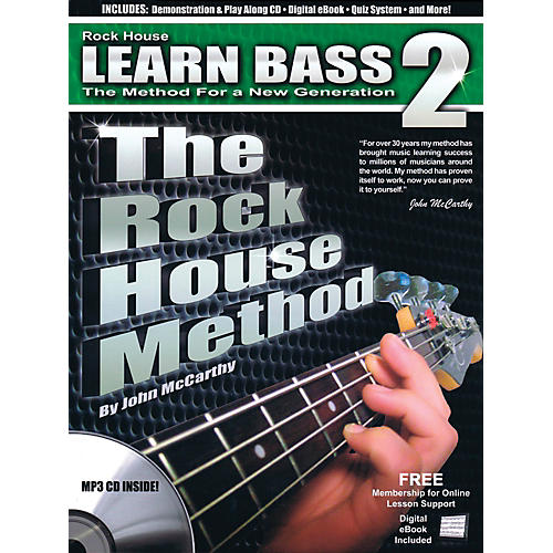 The rock house method learn bass guitar book 2 bookcd wwbw rock house the rock house method learn bass guitar book 2 bookcd fandeluxe Image collections
