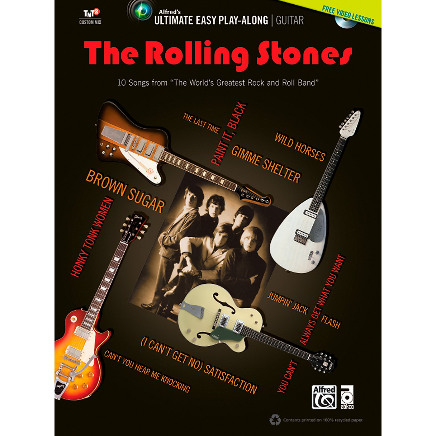 Alfred The Rolling Stones - Ultimate Easy Guitar Play-Along (Book & DVD) thumbnail