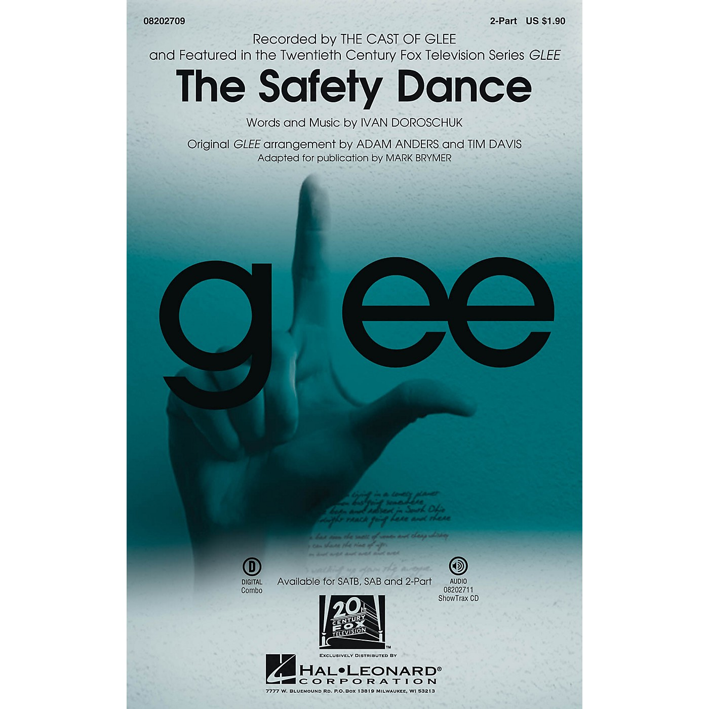 Hal Leonard The Safety Dance (featured in Glee) 2-Part by Glee Cast arranged by Adam Anders thumbnail