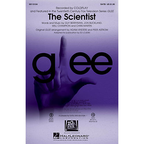 Hal Leonard The Scientist SATB by Glee Cast arranged by Adam Anders thumbnail