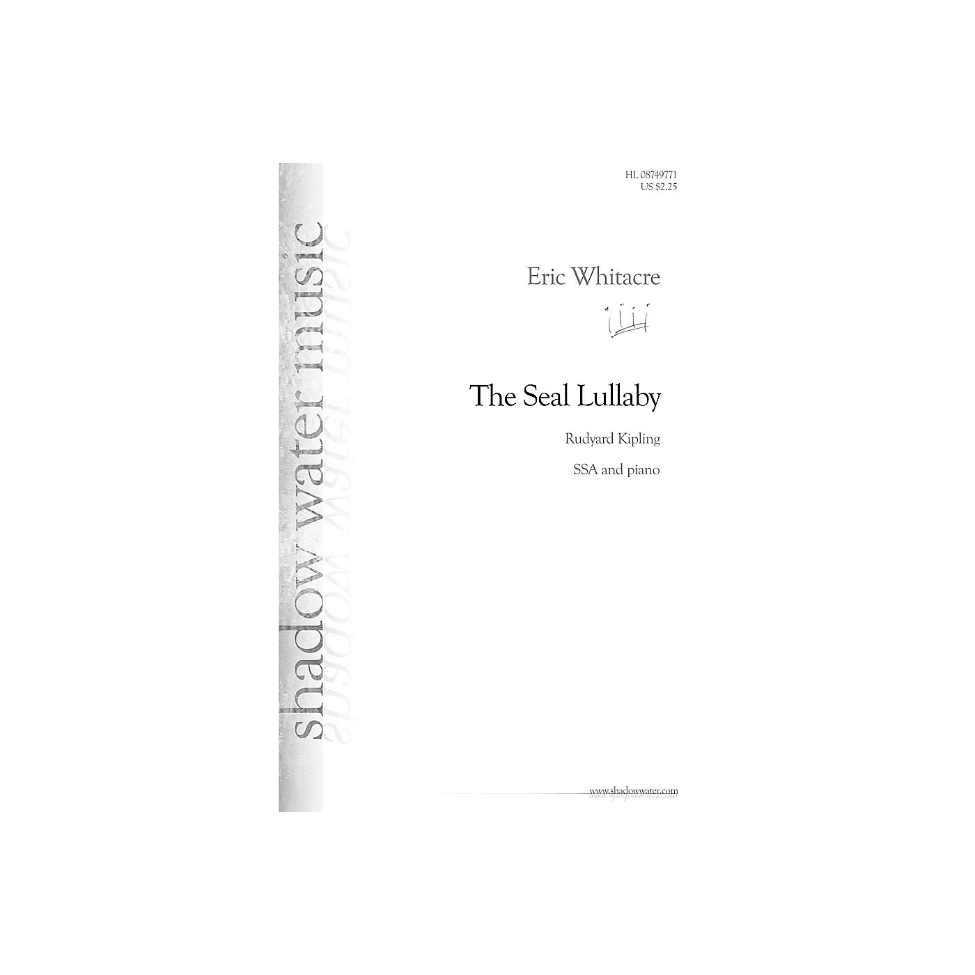 Hal Leonard The Seal Lullaby SSA composed by Eric Whitacre thumbnail