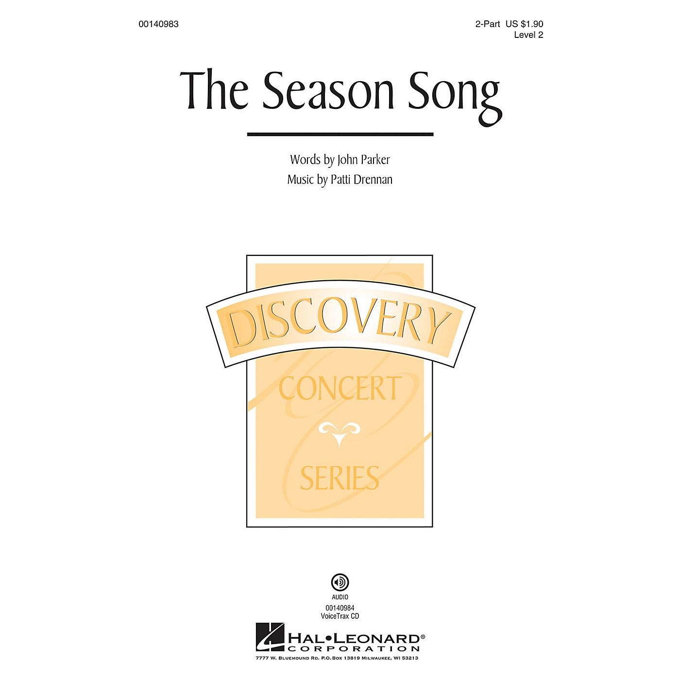 Hal Leonard The Season Song (Discovery Level 2) VoiceTrax CD Composed by Patti Drennan thumbnail