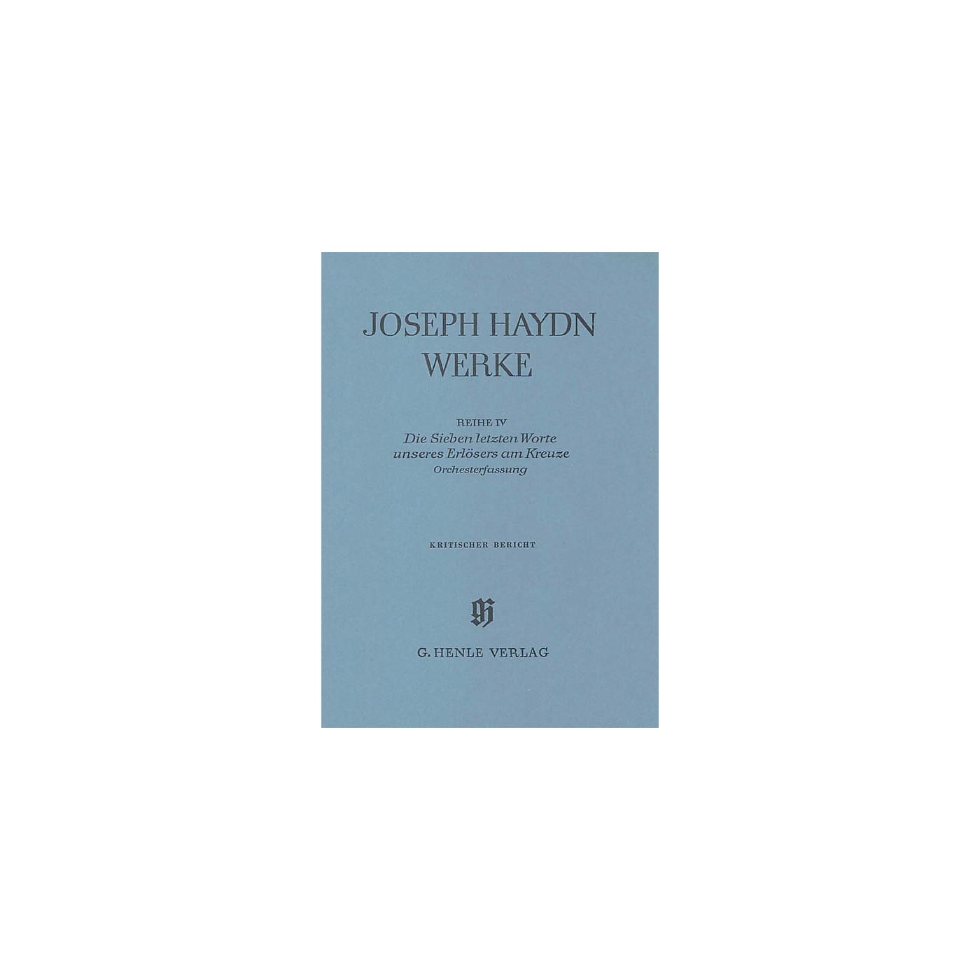 G. Henle Verlag The Seven Last Words of Christ Henle Edition Series Hardcover thumbnail