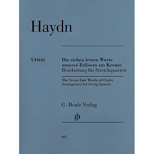 G. Henle Verlag The Seven Last Words of Christ Henle Music Folios Series Composed by Joseph Haydn thumbnail