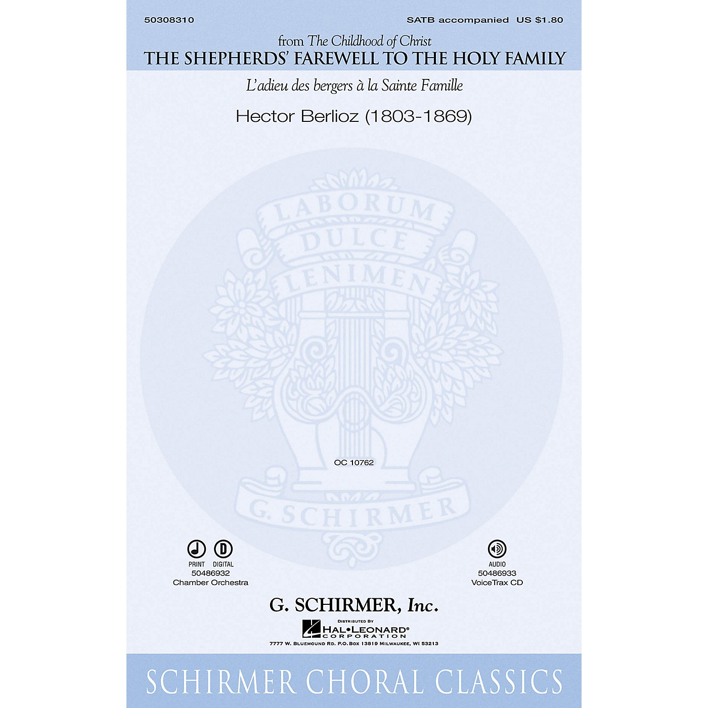 G. Schirmer The Shepherds' Farewell to the Holy Family Chamber Orchestra Composed by Hector Berlioz thumbnail