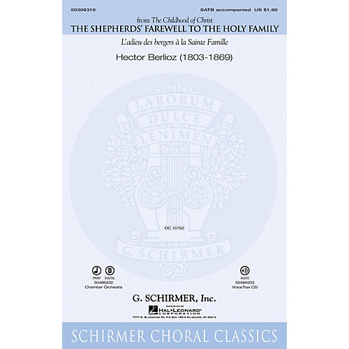 G. Schirmer The Shepherds' Farewell to the Holy Family VoiceTrax CD Composed by Hector Berlioz thumbnail