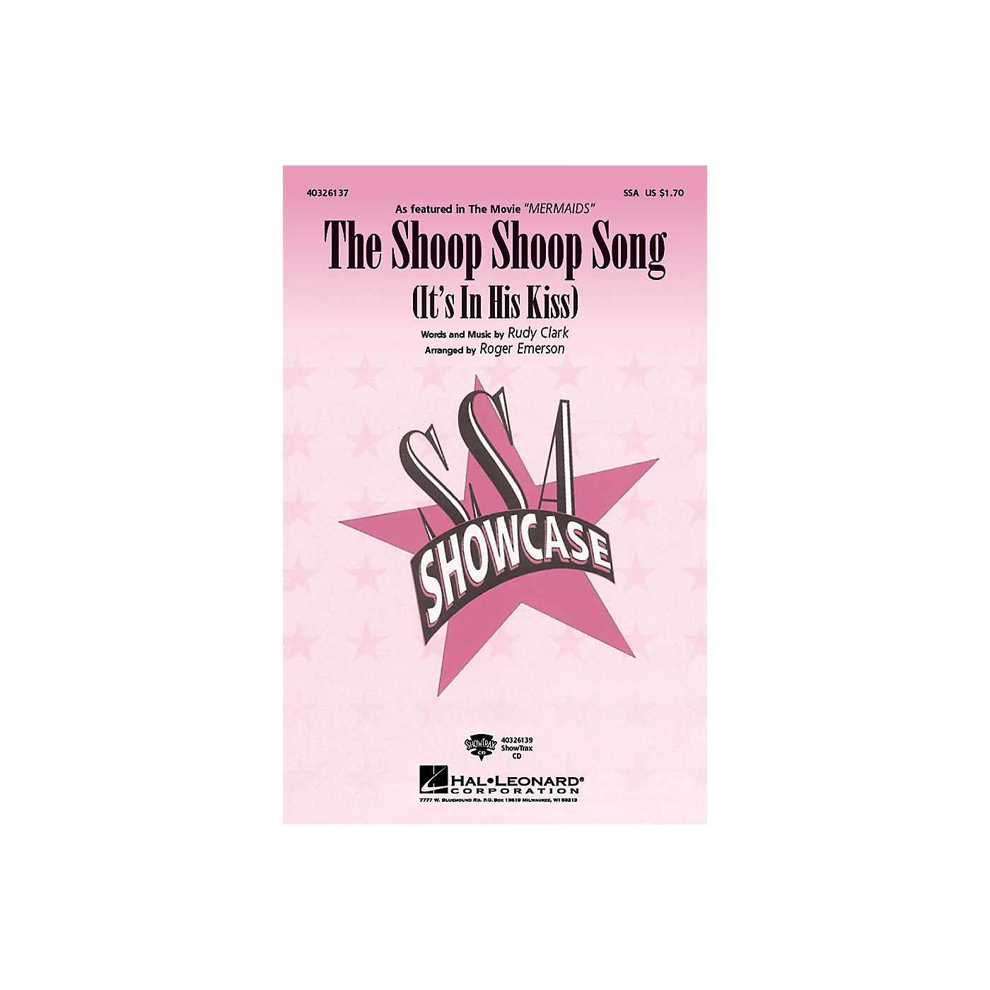 Hal Leonard The Shoop Shoop Song (It's in His Kiss) ShowTrax CD Arranged by Roger Emerson thumbnail