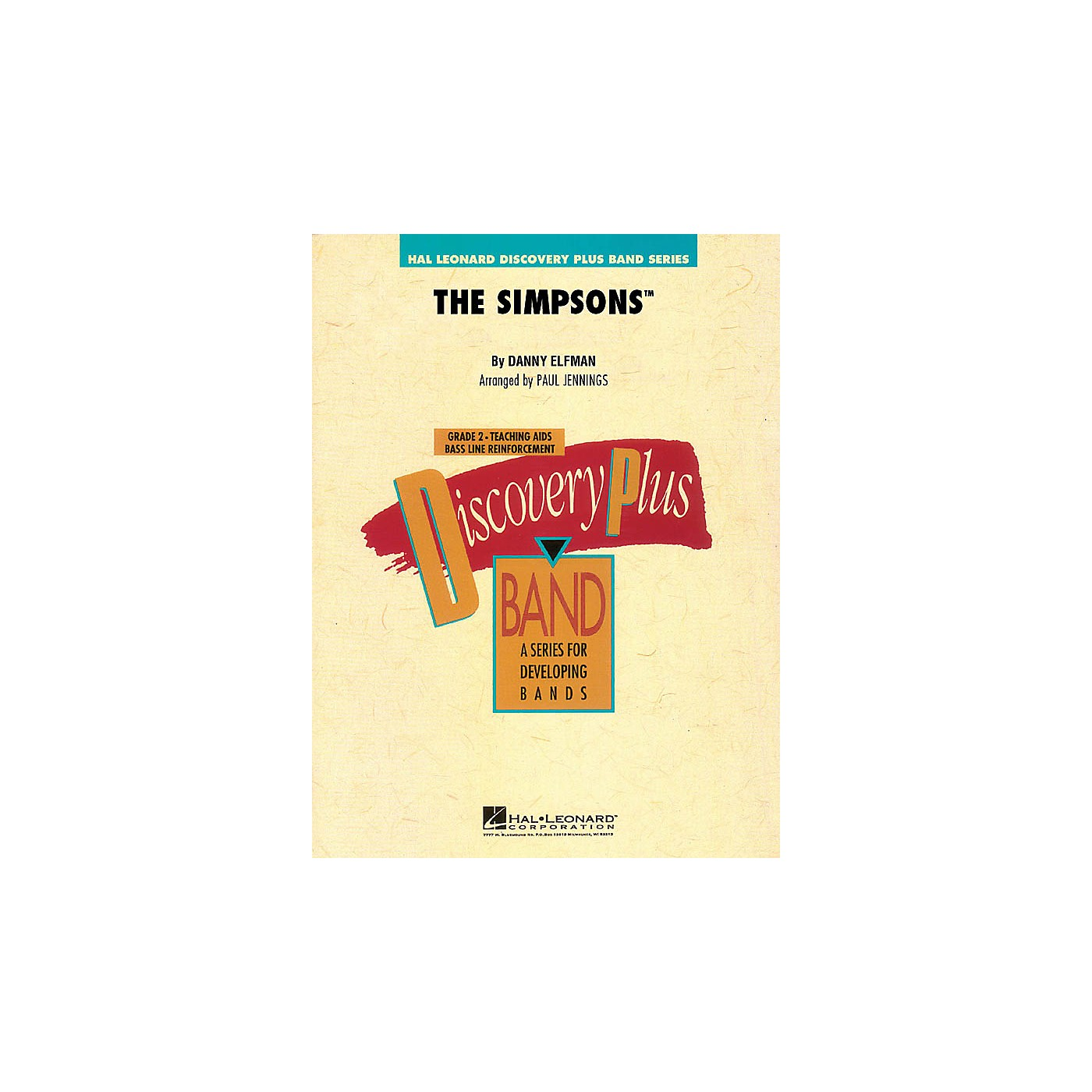 Hal Leonard The Simpsons - Discovery Plus Band Level 2 arranged by Paul Jennings thumbnail