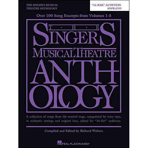 Hal Leonard The Singer's Musical Theatre Anthology Soprano 16 Bar Audition thumbnail