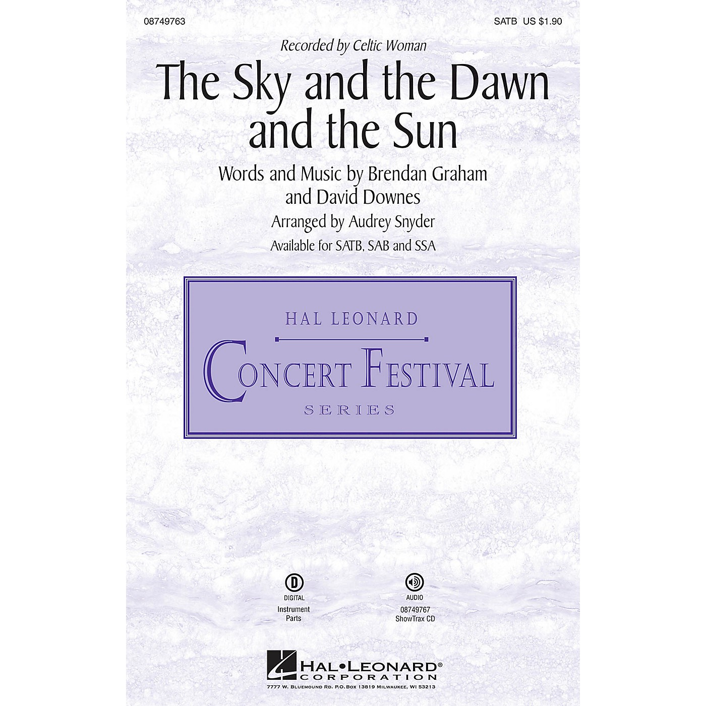 Hal Leonard The Sky and the Dawn and the Sun SATB by Celtic Woman arranged by Audrey Snyder thumbnail