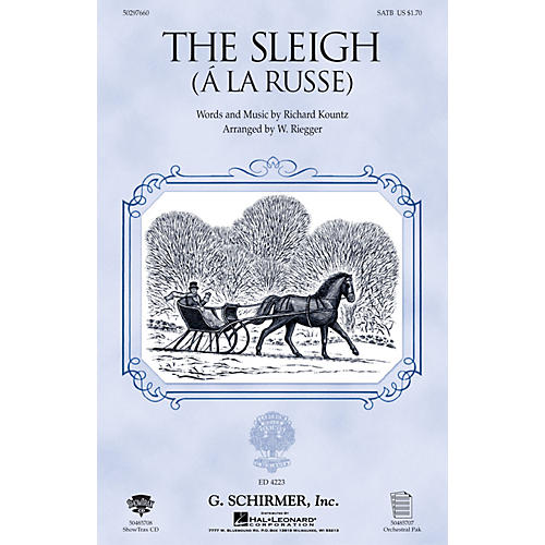 G. Schirmer The Sleigh (À La Russe) (Instrumental Pak) Orchestra Arranged by Wallingford Riegger thumbnail