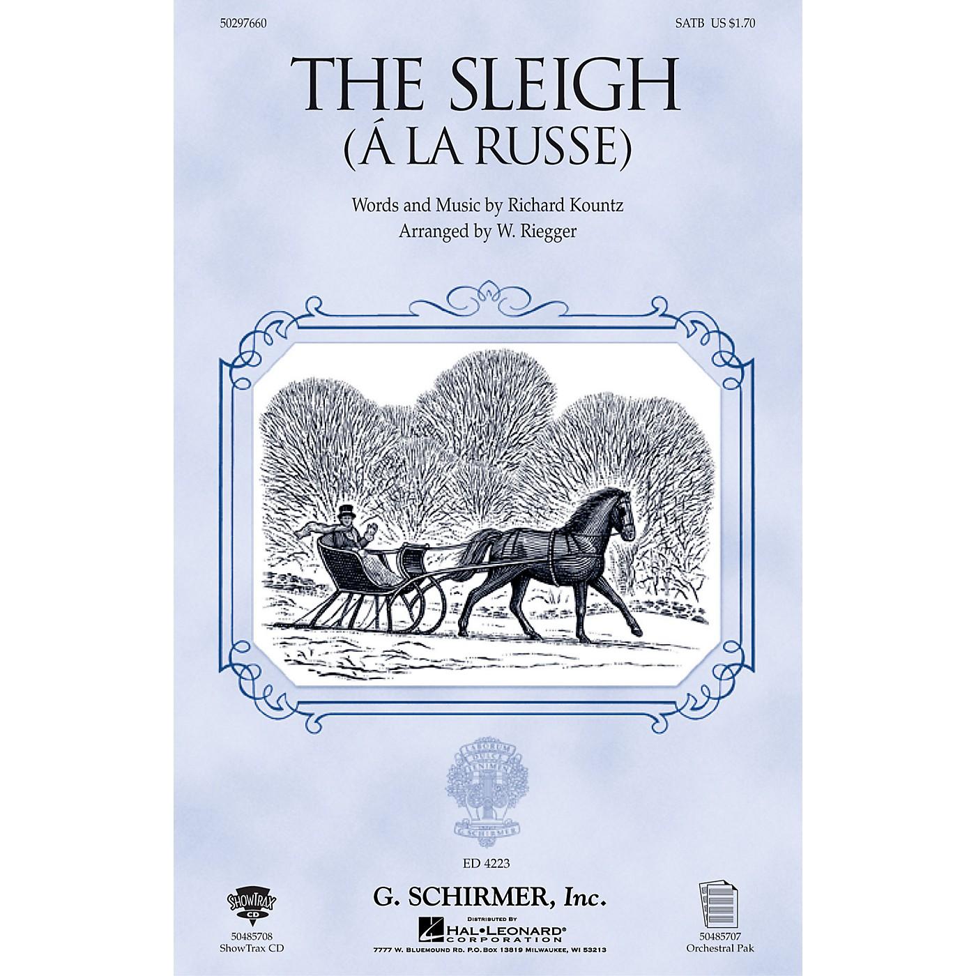 G. Schirmer The Sleigh (À La Russe) (TTBB) TTBB Composed by Richard Kountz thumbnail