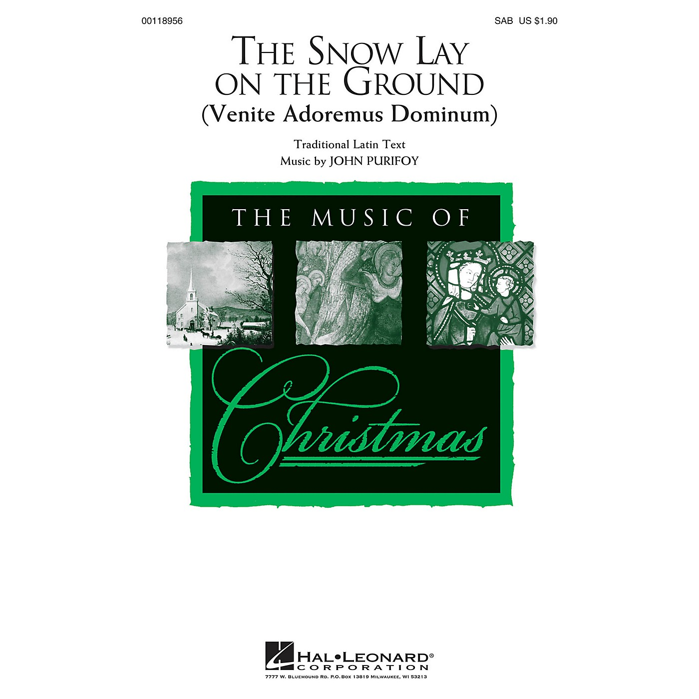 Hal Leonard The Snow Lay on the Ground (Venite Adoremus Dominum) SAB composed by John Purifoy thumbnail