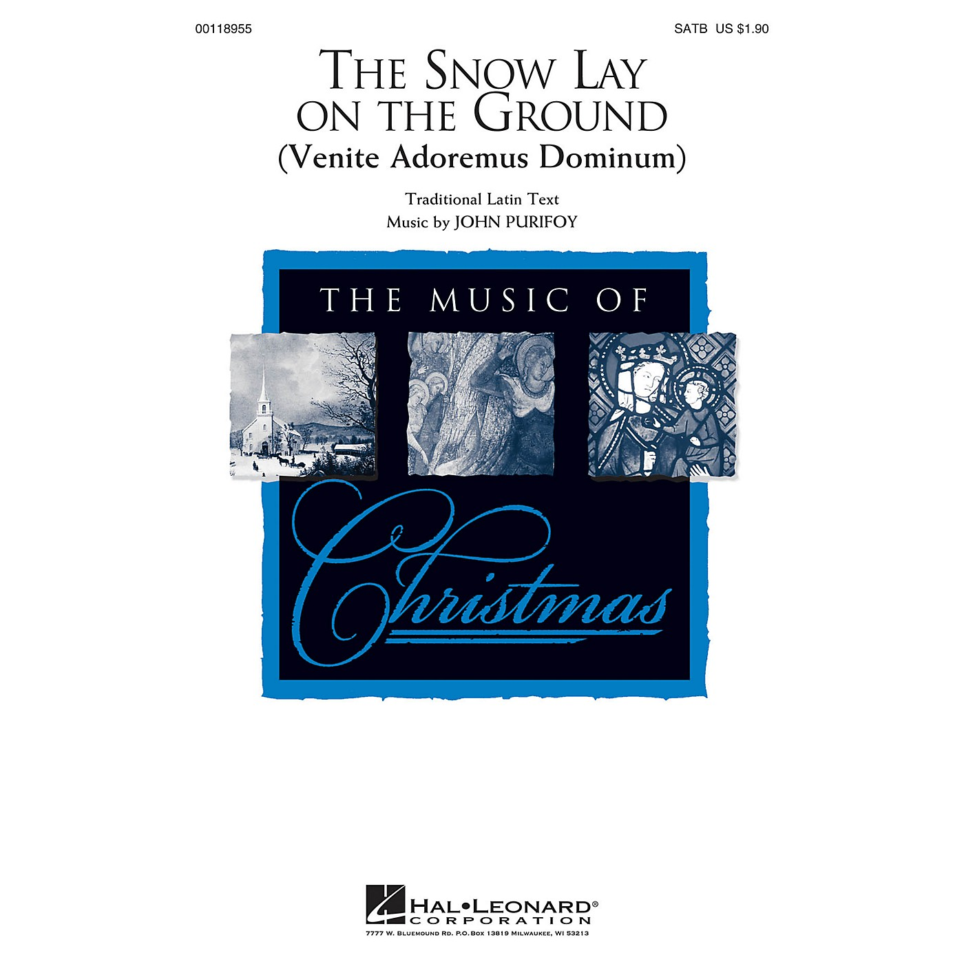 Hal Leonard The Snow Lay on the Ground (Venite Adoremus Dominum) SATB composed by John Purifoy thumbnail