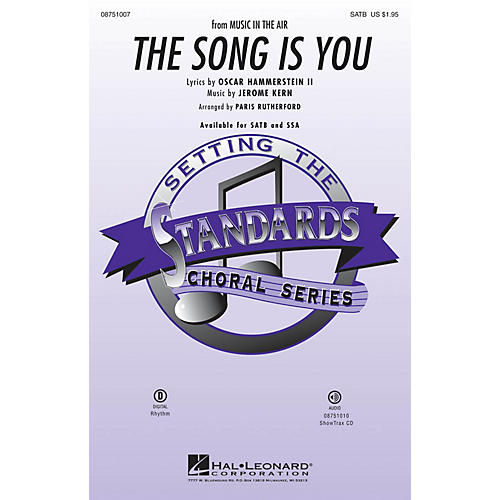 Hal Leonard The Song Is You ShowTrax CD Arranged by Paris Rutherford thumbnail