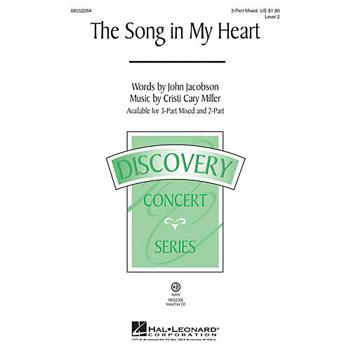 Hal Leonard The Song in My Heart (Discovery Level 2) 2-Part Composed by Cristi Cary Miller thumbnail