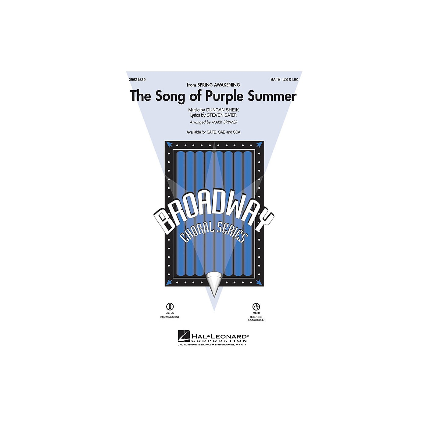 Hal Leonard The Song of Purple Summer (from Spring Awakening) SATB arranged by Mark Brymer thumbnail