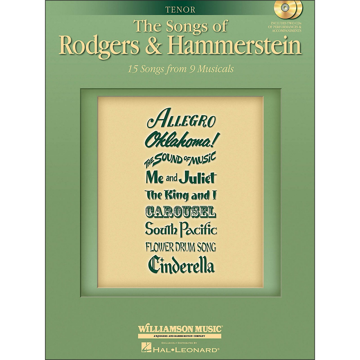 Hal Leonard The Songs Of Rodgers And Hammerstein for Tenor Voice thumbnail