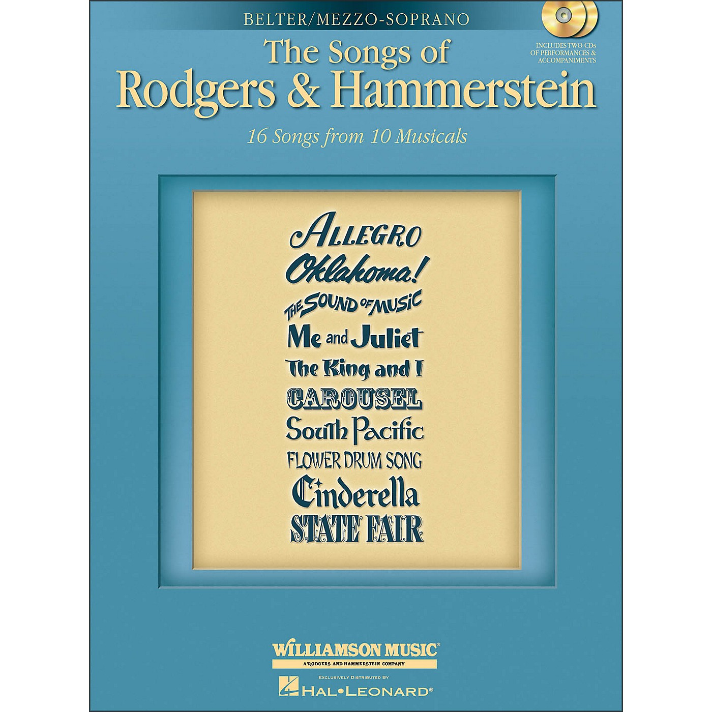 Hal Leonard The Songs Of Rodgers & Hammerstein for Mezzo-Soprano / Belter Voice thumbnail