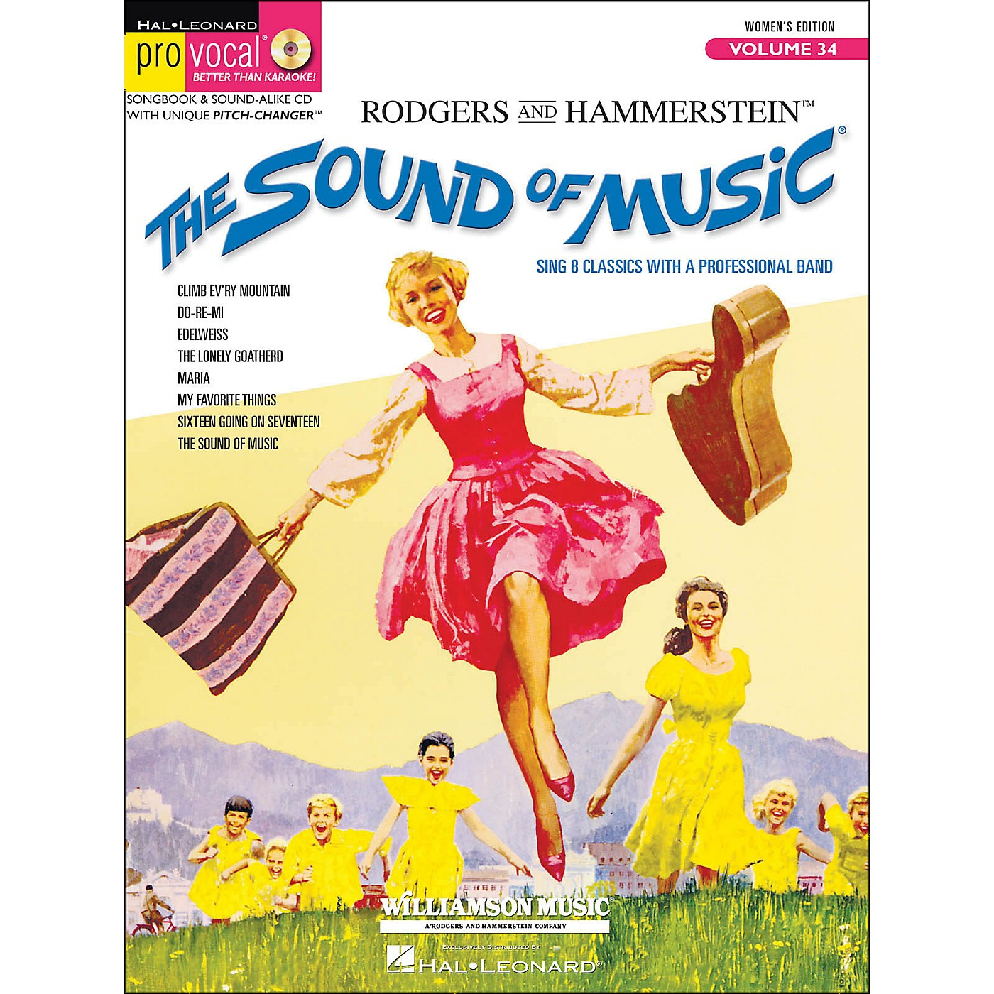 Hal Leonard The Sound Of Music Pro Vocal Series for Female Singers Volume 34 Book/CD thumbnail
