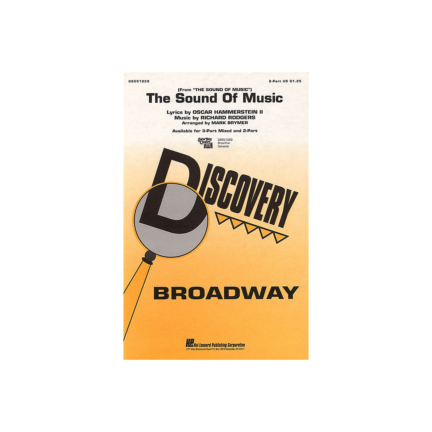 Hal Leonard The Sound of Music 2-Part arranged by Mark Brymer thumbnail