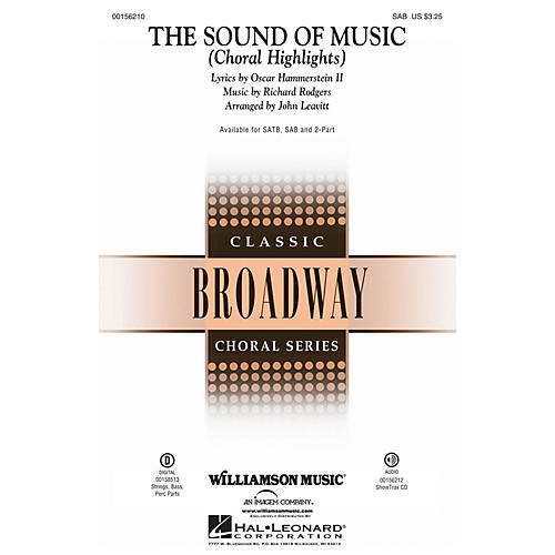 Williamson Music The Sound of Music (Choral Highlights) SAB by Julie Andrews arranged by John Leavitt thumbnail